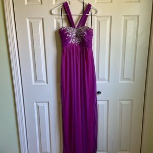 City Triangles - Purple Prom Dress with Keyhole